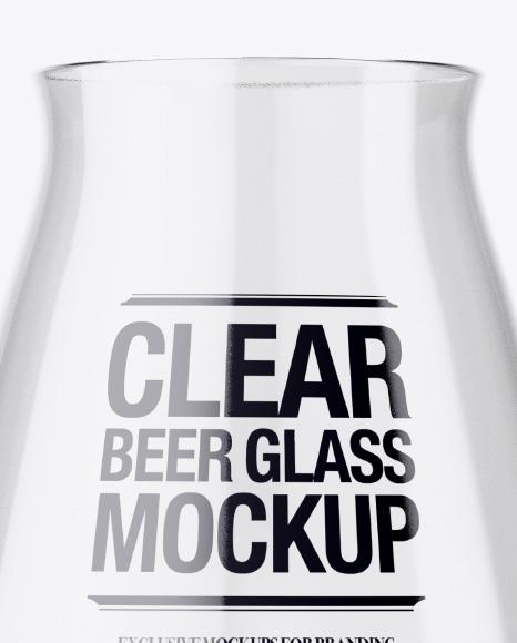 Empty Teku Glass Mockup