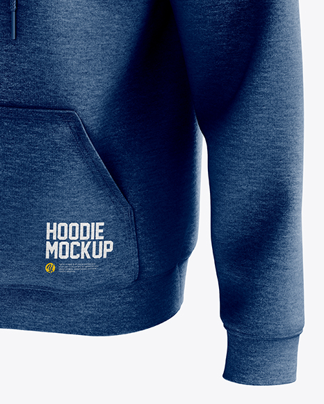 Men's Heavyweight Heather Hoodie mockup (Half Side View)