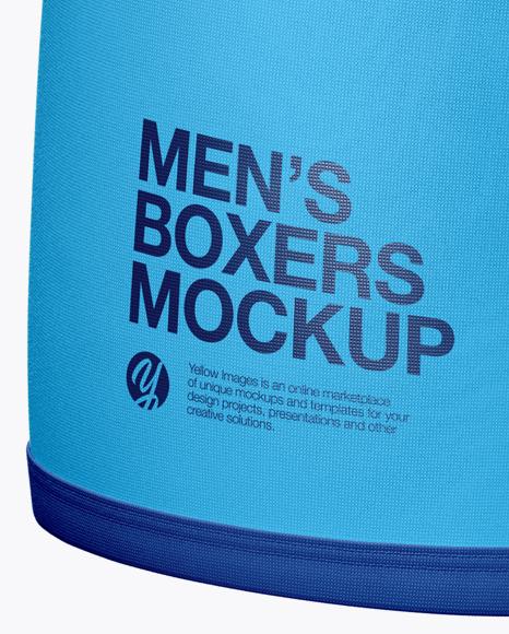 Men's Boxer Briefs Mockup - Front View
