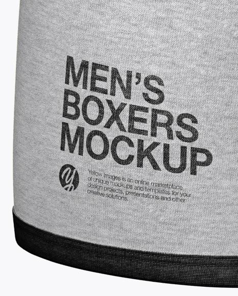 Download Melange Mens Boxer Briefs Mockup Half Side View Yellowimages