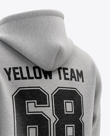 Download Mens Pullover Hoodie Mockup Back View Yellowimages