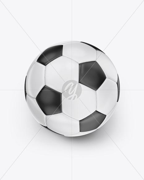 Soccer Ball Mockup - High Angle Shot
