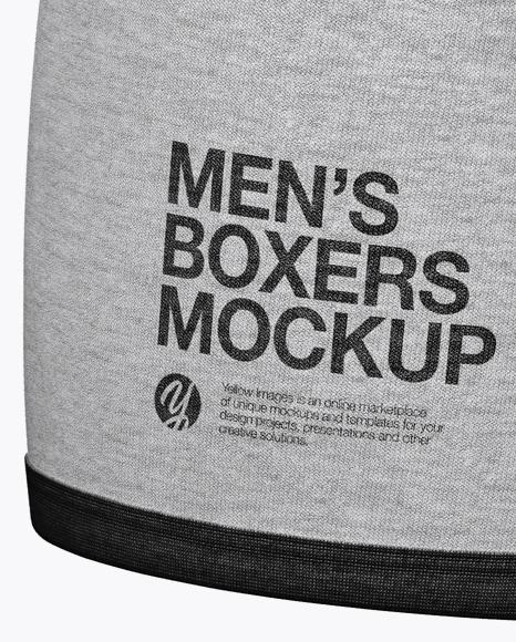 Melange Men's Boxer Briefs Mockup - Half Side View