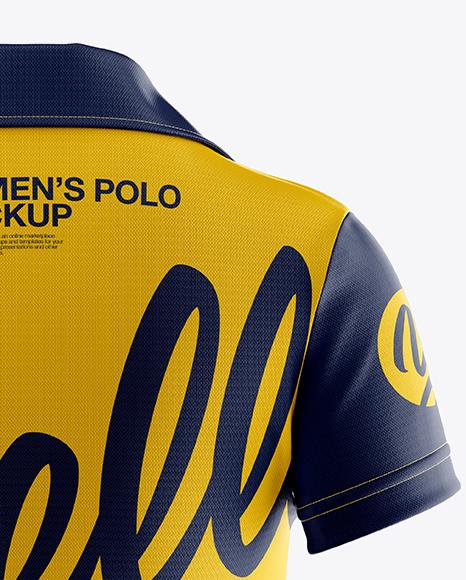 Women's Polo Mockup - Back View