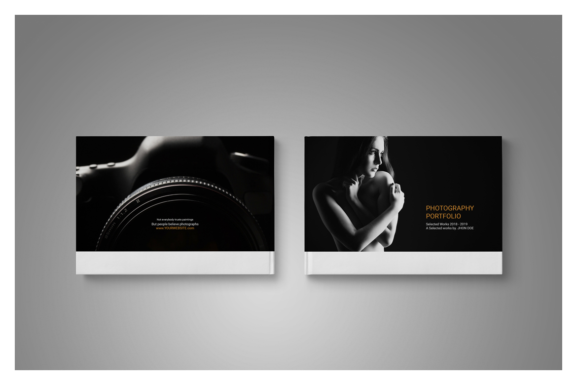 Photography Portfolio Template in Brochure Templates on