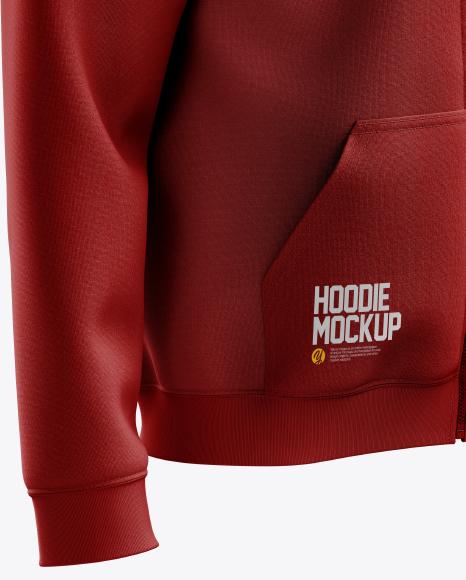 Men's Full-Zip Hoodie mockup (Right Half Side View)