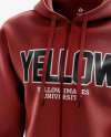 Men's Full-Zip Hoodie mockup (Half Side View)