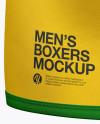 Men's Boxer Briefs Mockup - Back Half Side View