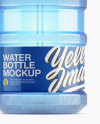 Water Bottle With Glossy Pump Mockup