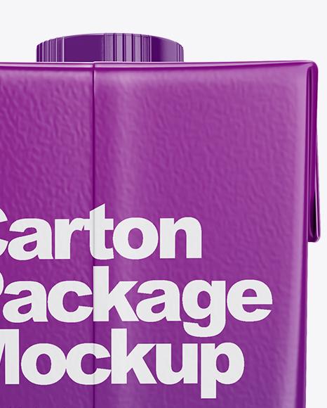 500ml Carton Box Mockup - Back View