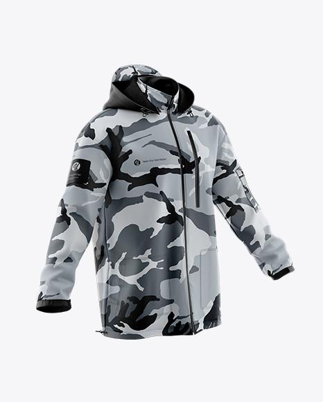 Men's Jacket Mockup - Half Side View