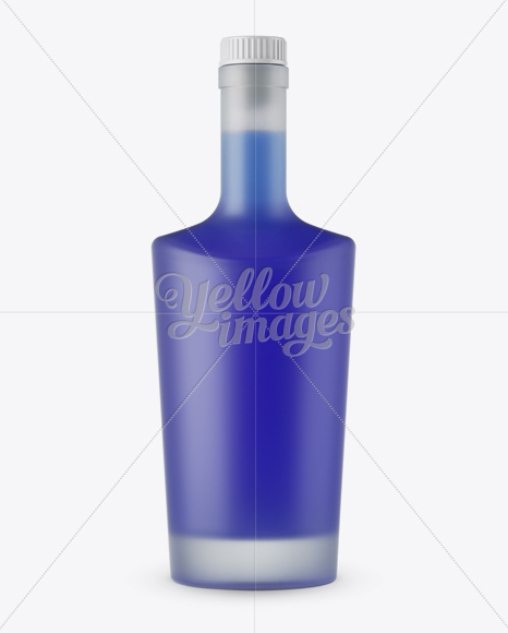 Download Frosted Bottle W Blue Liquor Mockup Front View In Bottle Mockups On Yellow Images Object Mockups PSD Mockup Templates