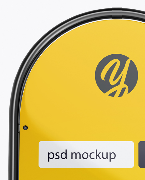 Glossy Street Stand Mockup - Front View