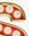 Letter S Light Bulb Sign Mockup