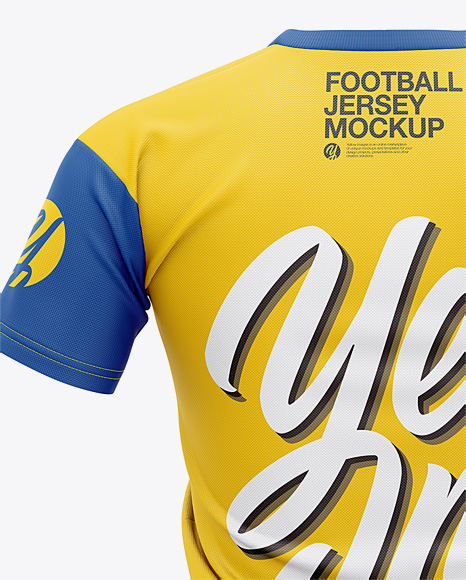 Men's Football Jersey Mockup - Back View
