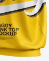 Baggy Tank Top Mockup - Half Side View