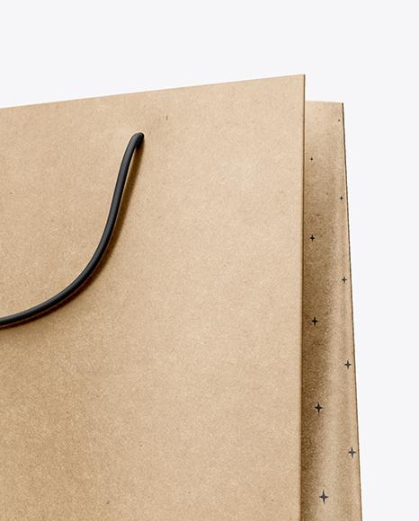 Kraft Paper Shopping Bag Mockup - Half Side View (Hero Shot)