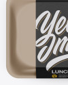 Lunch Box Mockup - Top View
