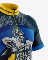 Men's Full-Zip Cycling Jersey Mockup - Half Side View