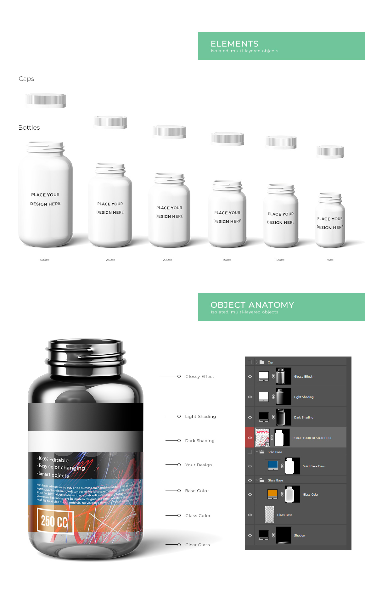 Download Supplement Bottles Mockup In Packaging Mockups On Yellow Images Creative Store PSD Mockup Templates