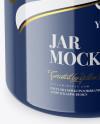 Glossy Plastic Jar Mockup - Front View (High-Angle Shot)