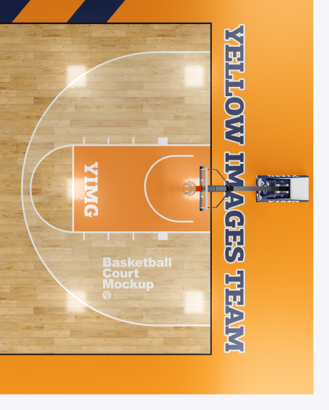 basketball court psd basketball court mockup - top view in object mockups on