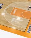 Basketball Court Mockup - Half Side View