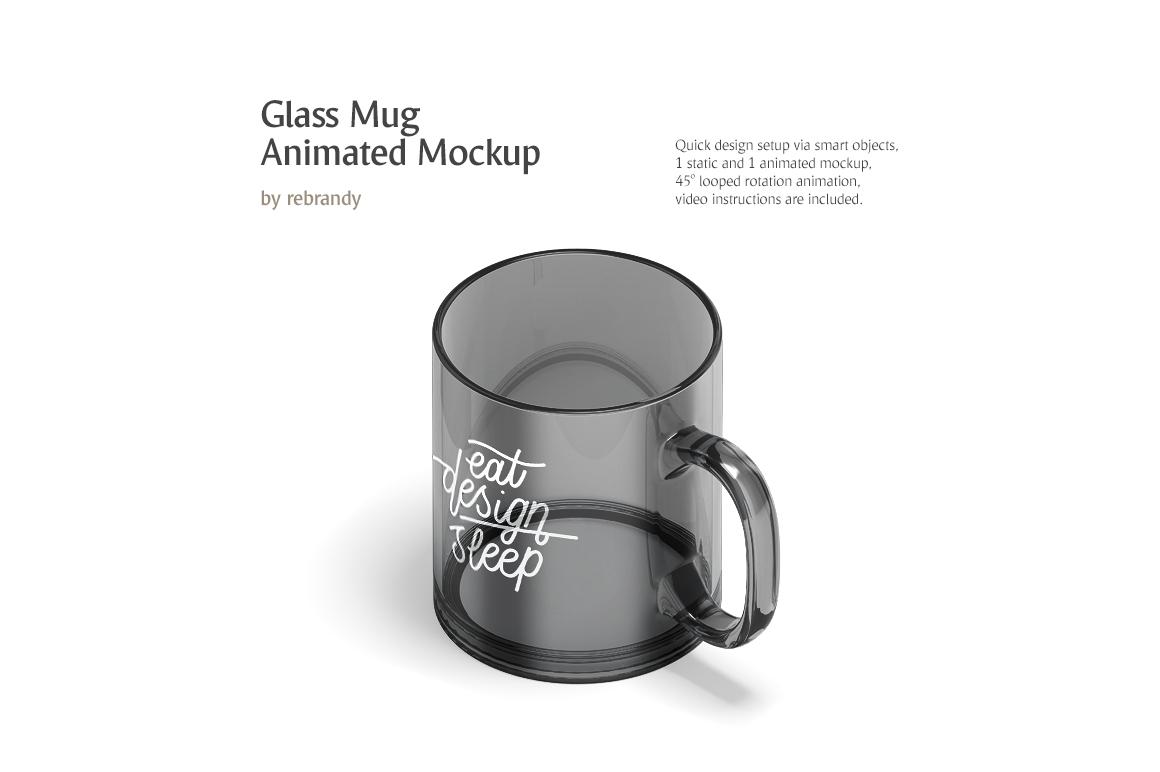 New Glass Mug Animated Mockup