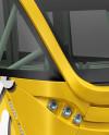 Minibus Mockup - Right Half Side View