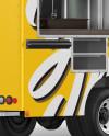 Food Truck Mockup - Back Half Side View