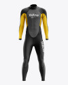 Men's Full Wetsuit mockup (Front View)
