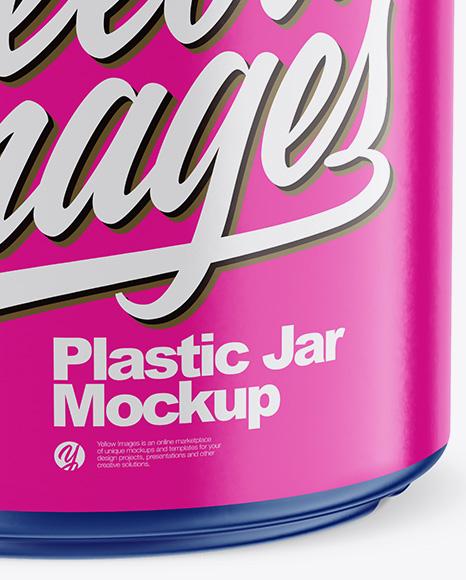 Matte Plastic Jar Mockup (High-Angle Shot)