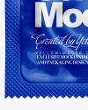 Glossy Square Condom Packaging Mockup
