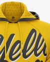 Men's Hooded Sweatshirt Mockup - Front View - Fleece Pullover Hoodie