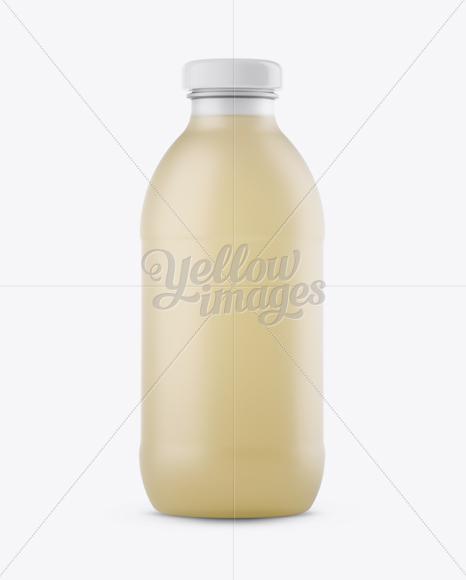 Download Frosted Bottle W/ Tea Mockup Free Mockups