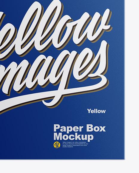 Glossy Box Mockup - Front View