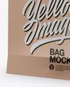 Kraft Bag with Raised Up Handles Mockup - Half Side View