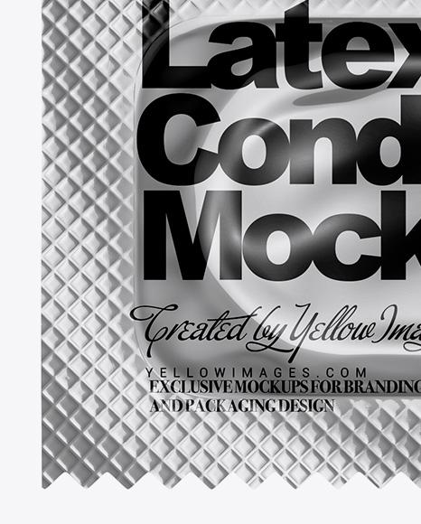 Metallic Condom Packaging Mockup