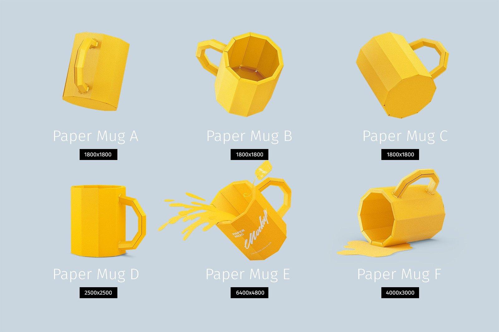 Papercraft Mug