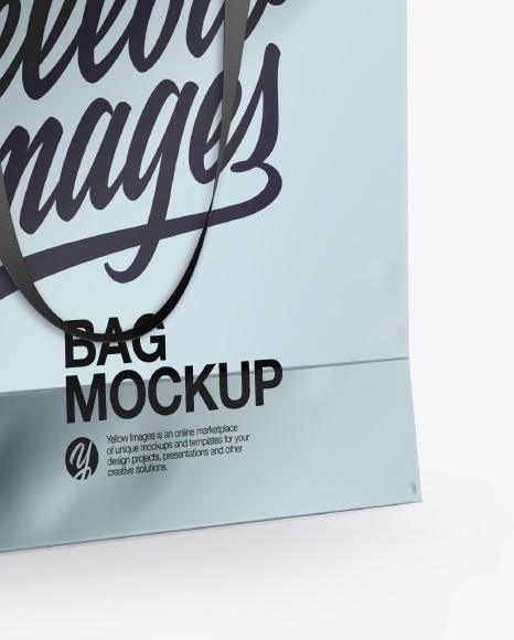 Metallic Bag Mockup  - Half Side View