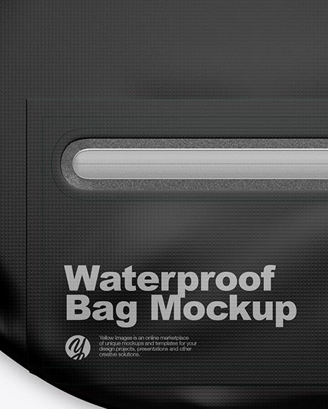 Waterproof Bag Mockup Top View In Apparel Mockups On Yellow