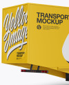 Electric Semi-Trailer Mockup - Back Half Side View