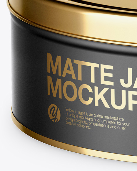 Download Matte Round Tin Can Mockup High Angle Shot PSD - Free PSD Mockup Templates