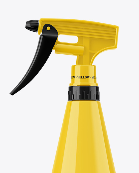 Glossy Hand Sprayer Bottle Mockup