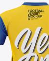 Men's V-neck Football Jersey Mockup - Back View