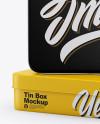 Two Matte Tin Boxes Mockup
