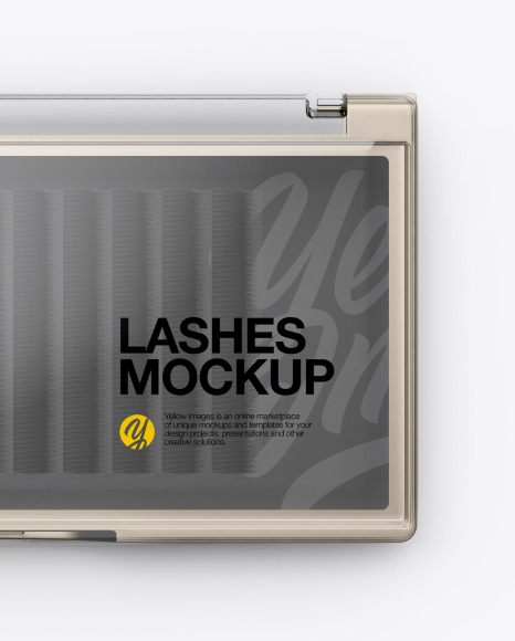 Download Opened Transparent Box With Lashes Mockup Front View PSD - Free PSD Mockup Templates