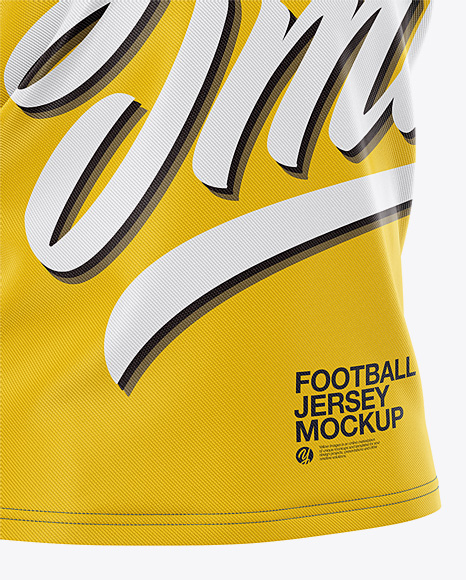 Men's V-neck Football Jersey Mockup - Half-Side View