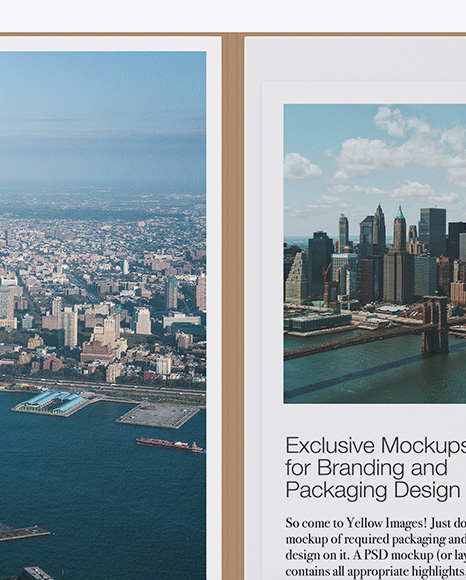 Kraft Folder with Papers Mockup