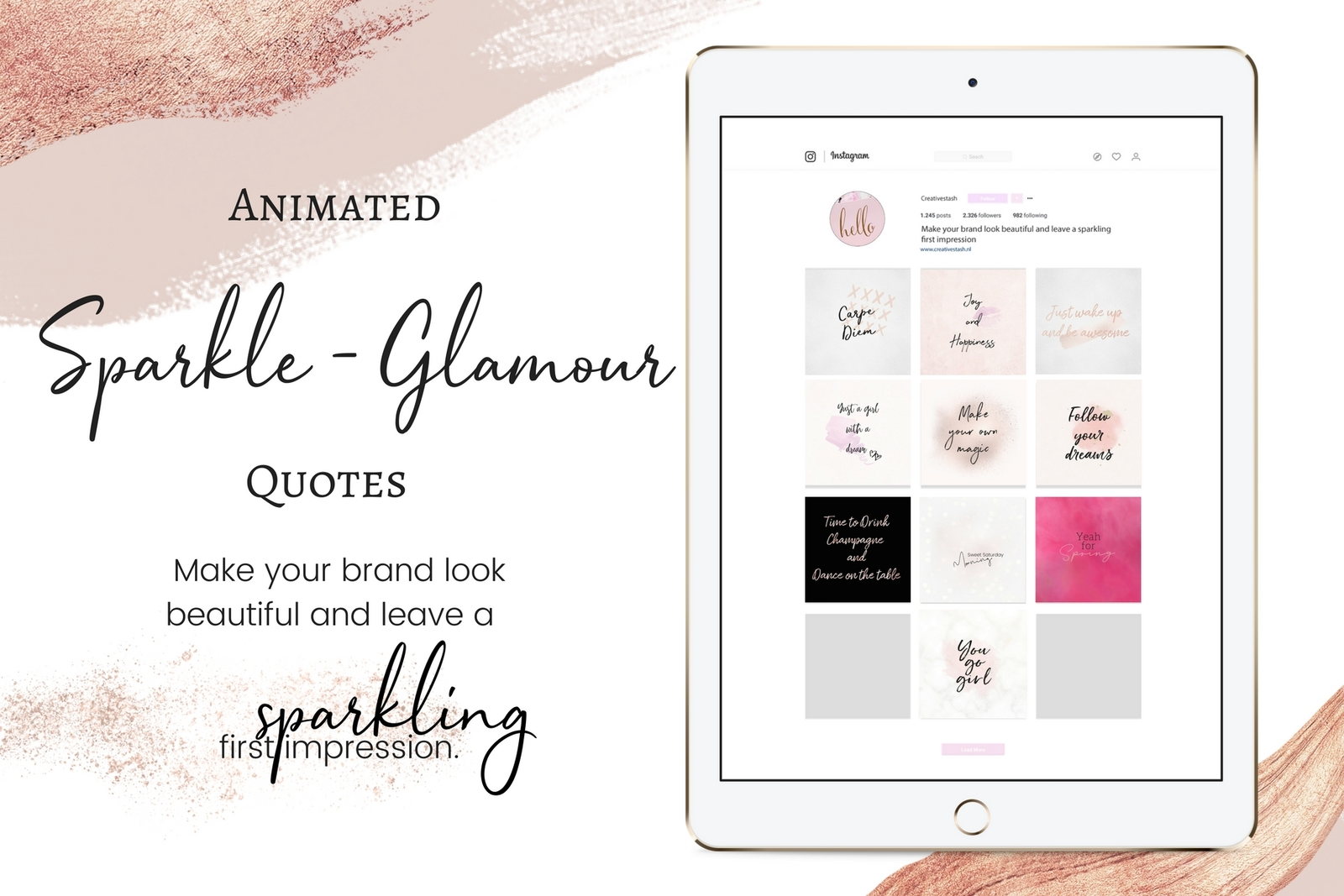Animated Sparkle, Glamour quotes